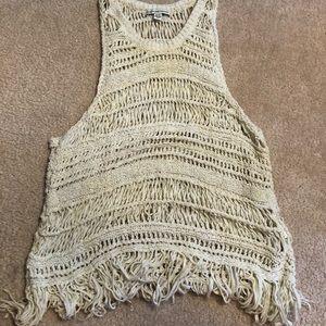 Ivory knit tank top
